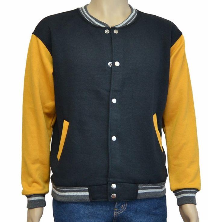 Varsity Jacket Black Yellow