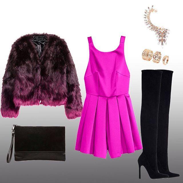Cumartesi gecesinin ikinci stili   Second style of saturday..✌️ H&M tulum, @hm romper *129tl  H&M kurk, @hm fur *169tl  Zara Ayakkabi, @zara shoes *459,95tl  Stradivarius Canta, @stradivarius  Bag *35,95tl  Lidyana Db Carnaval Kupe, @lidyanacom earring *45tl  H&M yuzukler, @hm ring 12,99tl  #fashion #pashion #style #moda #tarz #stil #istanbul #jean #outfit #shoes #bag #tshirt