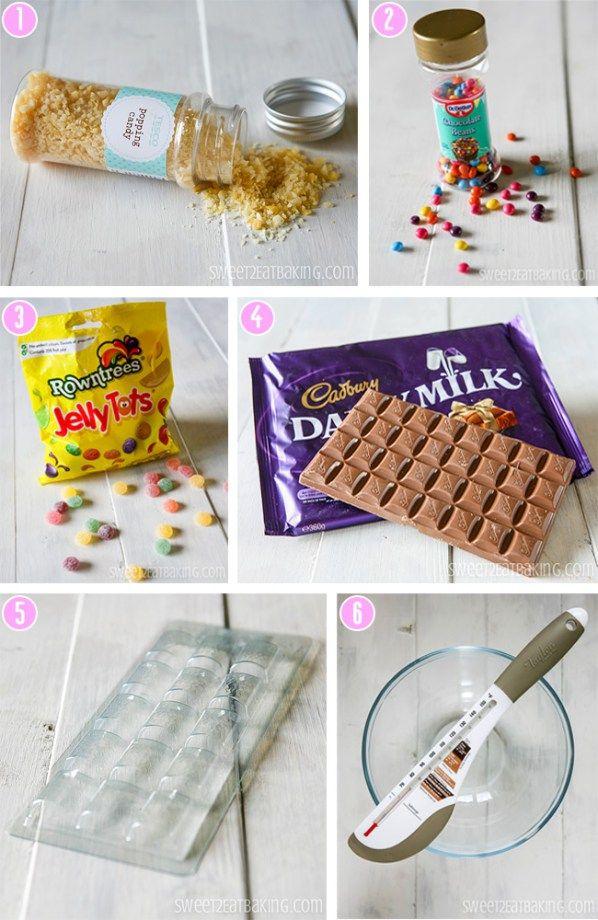 Copycat DIY Cadbury Dairy Milk Marvellous Creations Chocolate Candy Bar tools