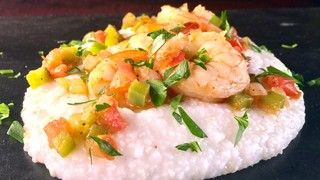 included for the Grits. Carla's Sea Island Shrimp and Grits [Be sure water to grits is 4 or 5:1.| The Chew