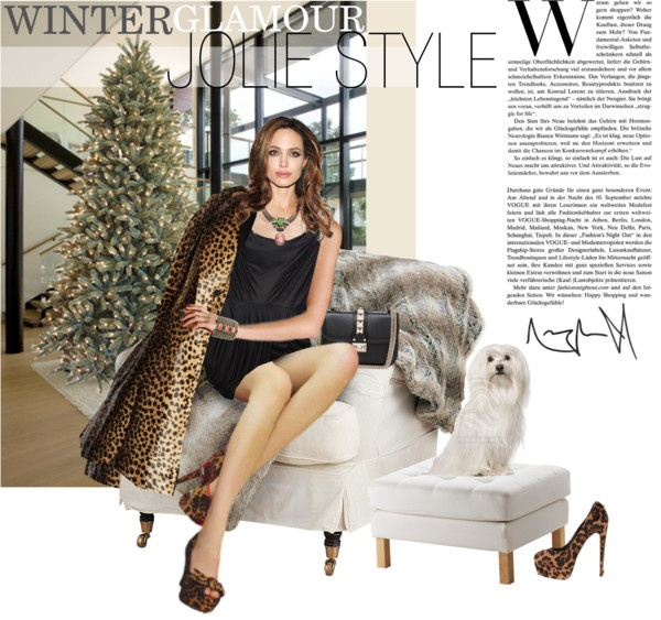 """""""Winter Glamour - Jolie Style"""" by ivansyd ❤ liked on Polyvore"""