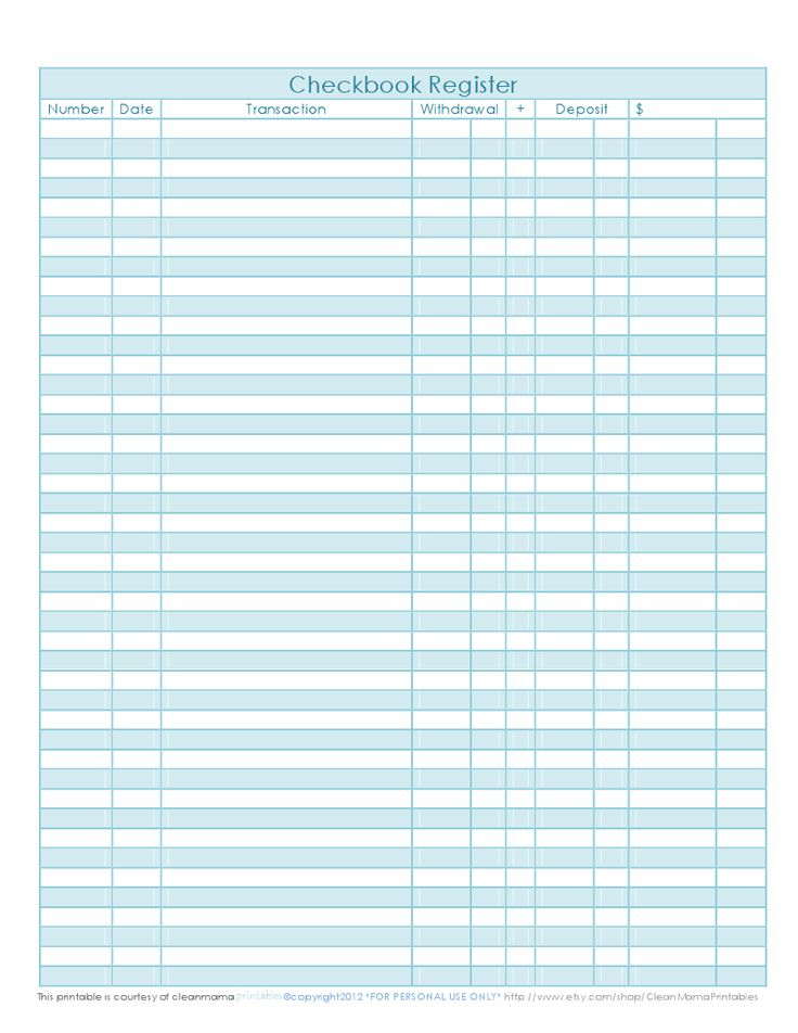 Printables Blank Check Register Worksheet 1000 ideas about checkbook register on pinterest check this will work for my credit card free printable