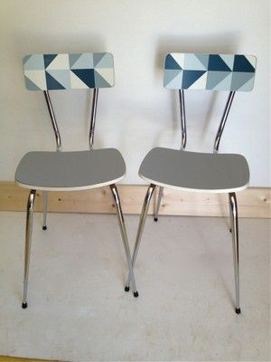 Duo chaises formica