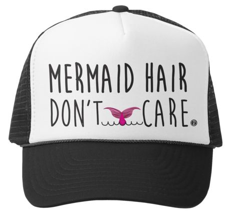 Mermaid Hair, Don't Care   Mini/Adult Trucker Hats