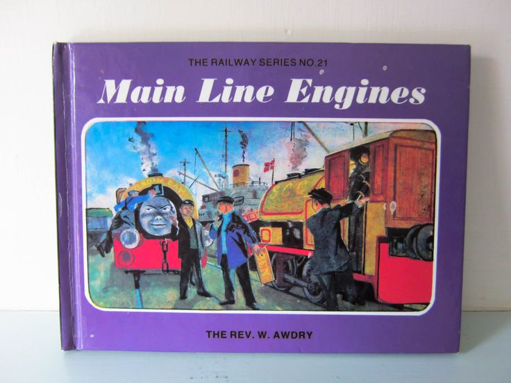 Thomas the tank engine, childs vintage book, Main Line Engines, Vintage children's story book, English, Steam train, collectible book by thevintagemagpie01 on Etsy