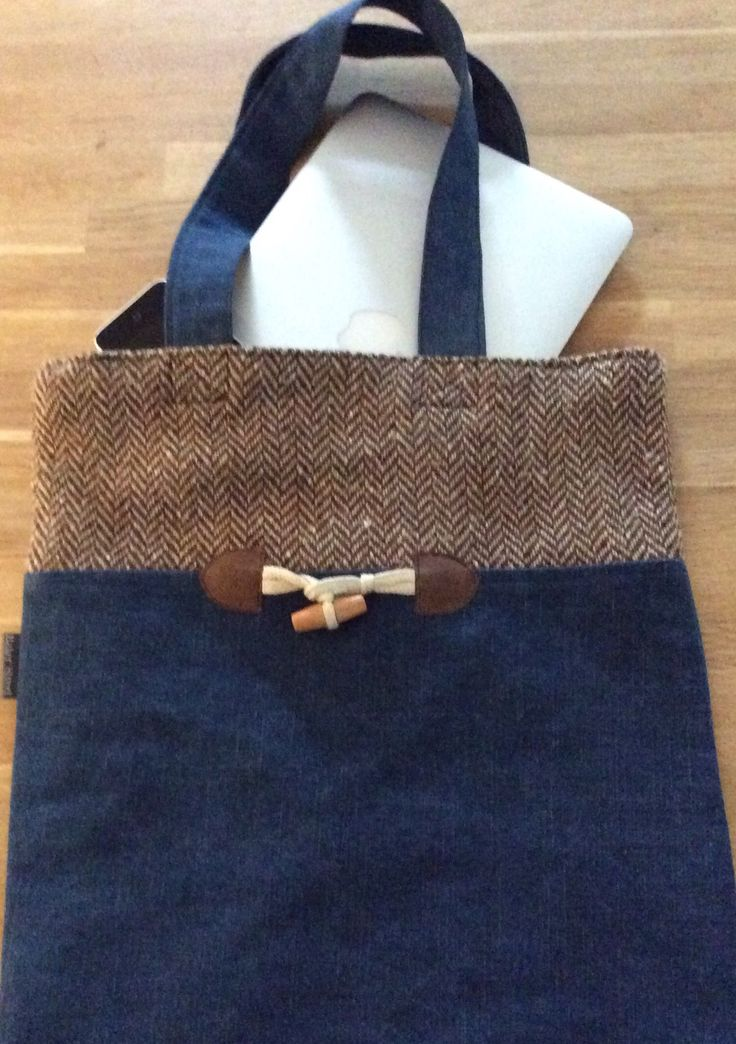 Lots of tweed and denim totebags in the webshop www.bakerstreethandmade.com