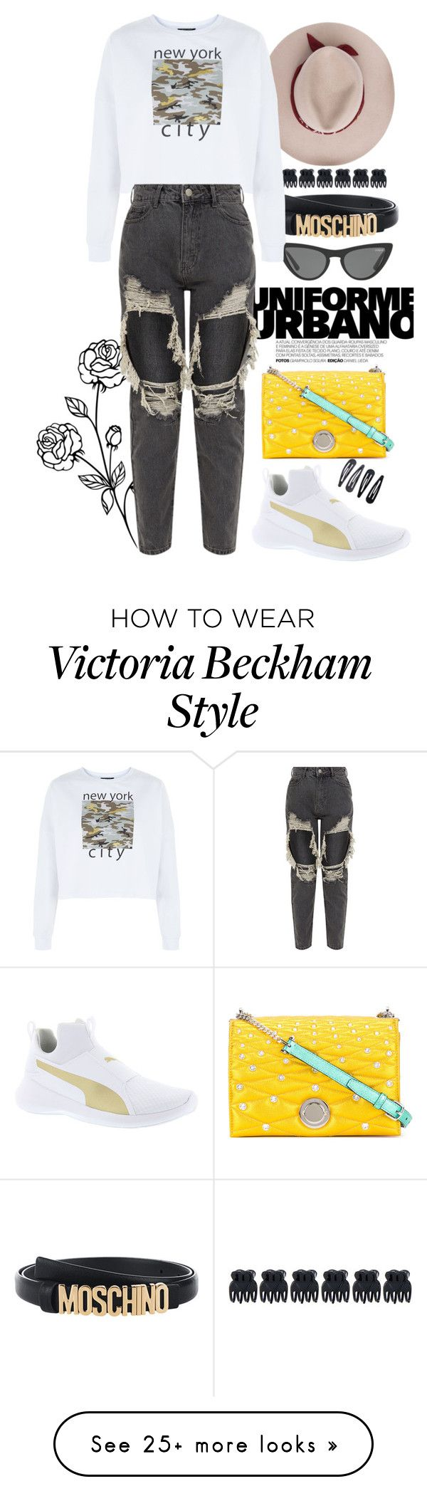 """""""New York city"""" by laeticia2111 on Polyvore featuring Victoria, Victoria Beckham, Moschino, Accessorize, Bally and Puma"""