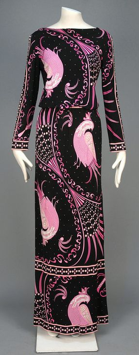 Dress Emilio Pucci, 1970s Whitaker Auctions One of my favorite designers