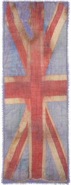 Vivienne Westwood Distressed Union Jack Scarf