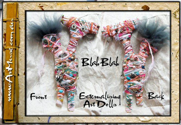 SOLD- Blah~Blah Art Externalising dolls Nina~An my names 'Strong / Peace' and my Happy Home is now with the very talented photographer Jemloco Images  https://www.facebook.com/jemlocoimages. Check out her work.
