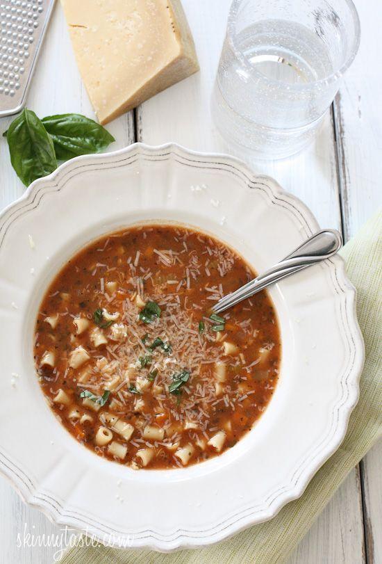 Pasta Fagioli (Pasta and Beans) | Skinnytaste