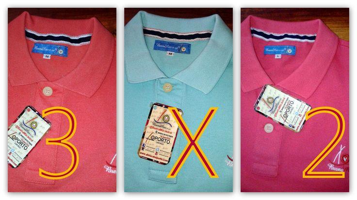 Promo Aguinaldo 3X2 en camisas, camisetas y camibusos Oporto BuenaMar