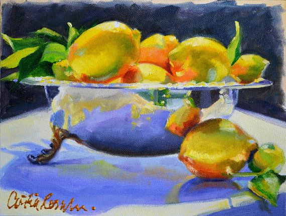 Meyer Lemons In Silver Art Print Yellow And Blue Kitchen Art Etsy In 2020 Beautiful Art Print Free Art Prints Lemon Painting
