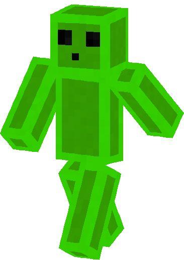 Minecraft papercraft slime slime skin