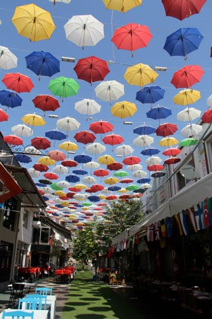 Antalya, Turkey, Antalya, Turkey - Umbrellas swaying overhead!
