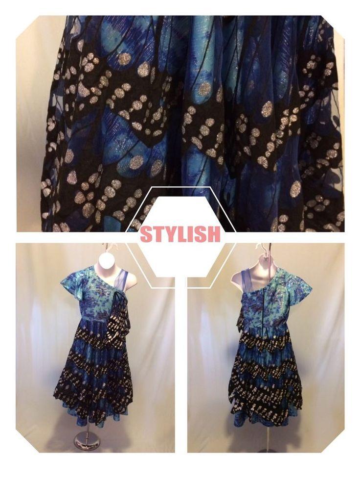 Chasing Fireflies Girl's Blue SZ 8 Butterfly Costume #ChasingFireflies #Dress
