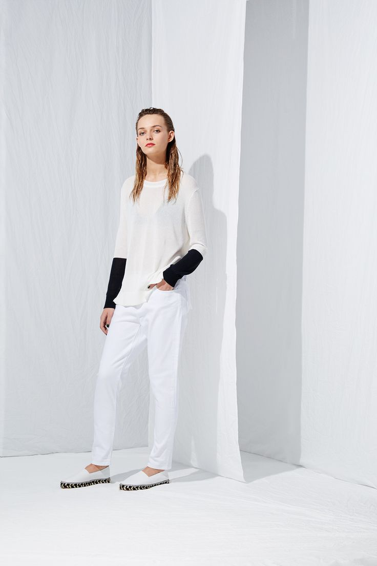 Dipped Sleeve Sweater from the latest L.W.B. collection by Australian fashion designer LIFEwithBIRD Summer'15