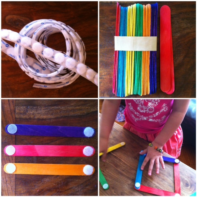 Velcro Sticks  simple, fun, could be a take with you activitiy  A Childhood List