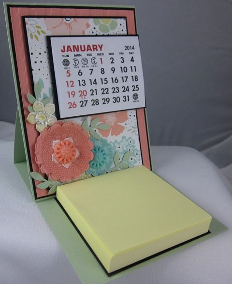 Stampin_up_sweet_sorbet_calendar_1  Project for the Stampin' In the New Year Birthday Stamp-a-Stack January 1st, 3rd, and 4th!  Also a Sneak Peek of 2014 Sale-a-bration products!  www.carolpayne.stampinup.net