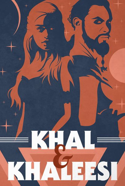 Khal & Khaleesi ~ Game of Thrones Fan Art