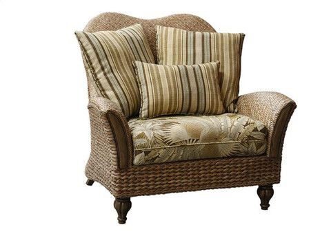 Usa Made Capris Rattan Chair And Half In Tropical And