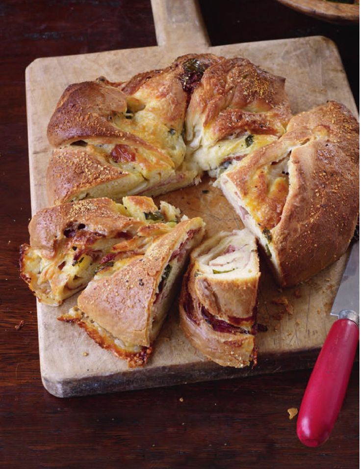 Savoury brioche couronne - saw Paul Hollywood make this today....must bake!