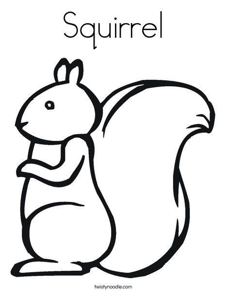 Squirrel Coloring Page Twisty Noodle Squirrel Preschool