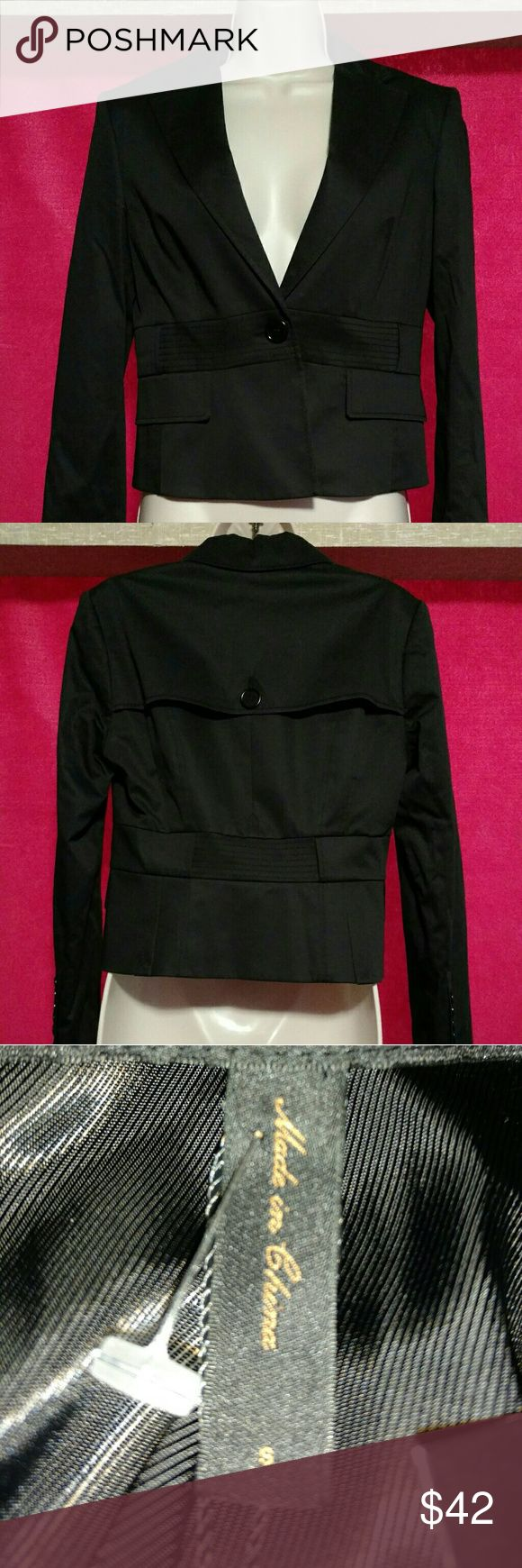 New w tags BCBG MaxAzria Black cotton blazer from a favorite label! Size small. Brand new! 3% spandex for unwrinkled comfy fit. BCBGMaxAzria Jackets & Coats Blazers
