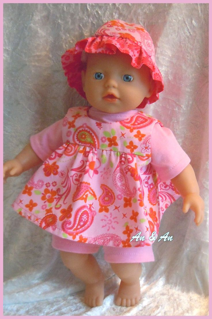 Pink spring setje , Jurk, shirt, broek en hoedje
