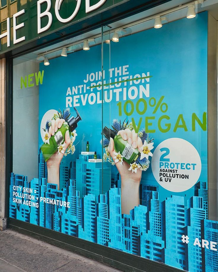 "THE BODY SHOP, London, UK, ""Join the anti-pollution revolution"", creative by StudioXAG, pinned by Ton van der Veer"