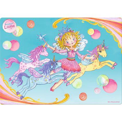 Schreibtischauflage von Prinzessin Lillifee aus abwischbarer Folie mit rutschfester Rückseite.
