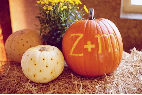 Pumpkin decor... so glad i chose a fall wedding