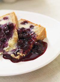 Gâteau croustillant à l'avoine et aux bleuets