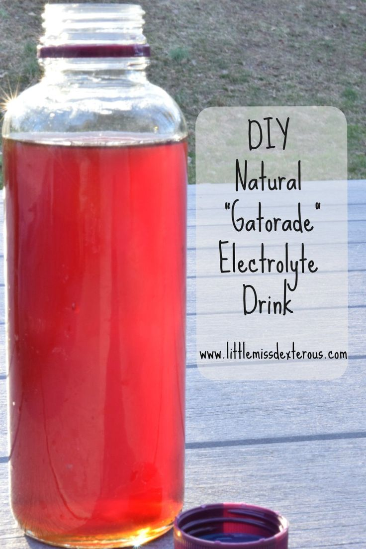 "This healthy DIY Natural ""Gatorade"" Electrolyte Drink will keep you moving in perfect condition, or aid in recovery."