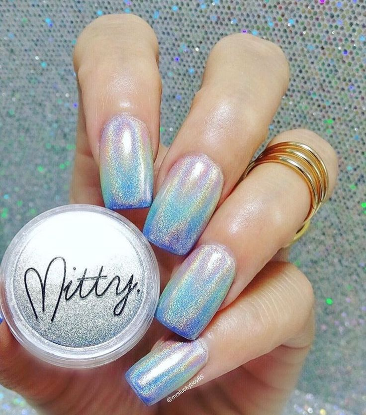 Fairy Nail Art: 69 Best HOLO & Holographic Chrome Powder Nails Images On
