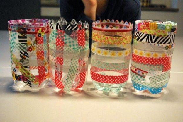 Laternen aus PET-Flaschen / Lanterns made of plastic bottles / Upcycling
