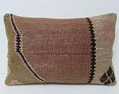 16x24 brown kilim pillow natural throw pillow organic decorative pillow decorative home accessories organic throw pillow lumbar pillow 24829