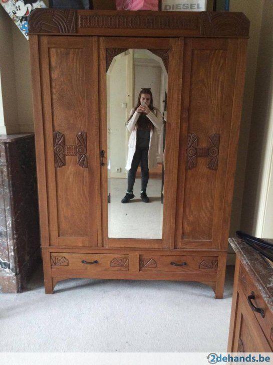 Gebruikt: Mooie kleerkast met spiegel (Meubels) - Te koop voor € 50,00 in Antwerpen