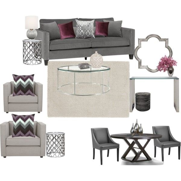 """""""Scheme 3 Living/Dining Room"""" by savvyco on Polyvore"""