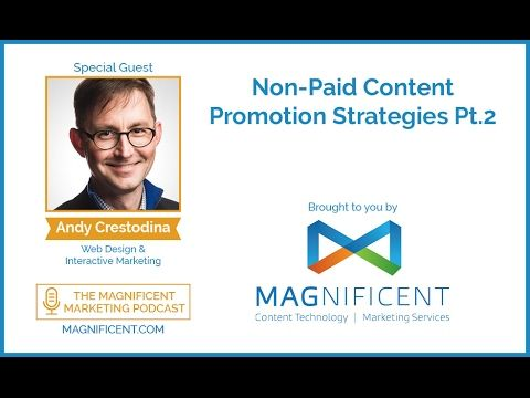 In this interview, we continue our sit down with Andy Crestodina, Co-Founder of Orbit Media, to talk about more content promotion strategies that cost NOTHING for you!