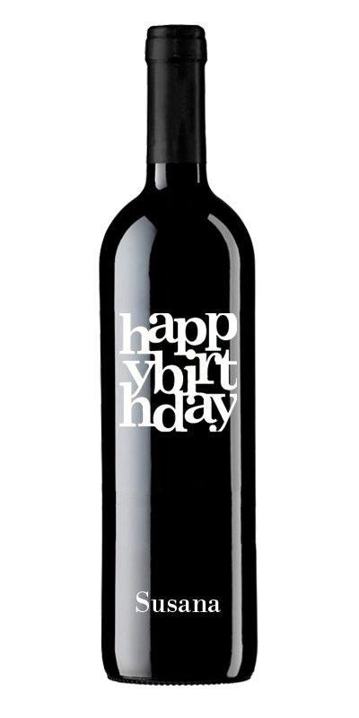 Happy Birthday Vino Tinto Personalizado para #Cumpleaños