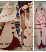 Baju Gamis Modern Syari Trendy mocca marun