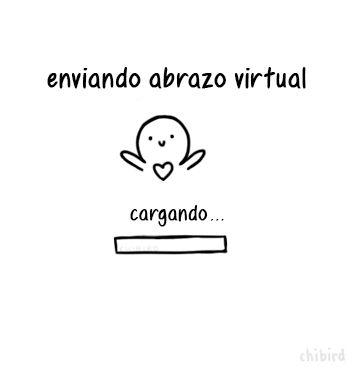 Enviando abrazo virtual