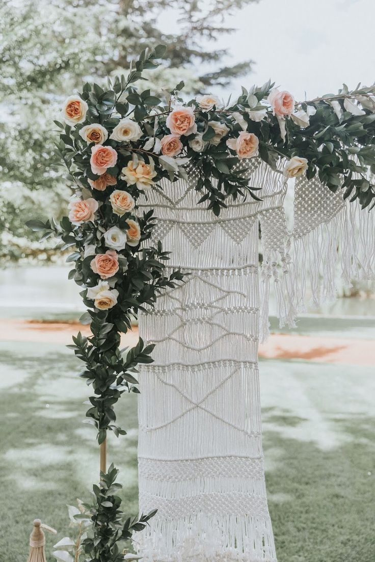 Boho Arch. Florals by Emma Blake Floral / Photography by Jonathan David/ Venue Bendooley Estate