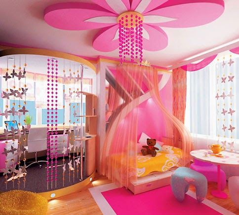 New tips for false ceilings in the kids room, gypsum ceiling flower for #kids #ceiling