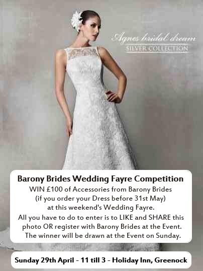 Win £100 of Accessories with Barony Brides - just click on the photo to enter the Competition.
