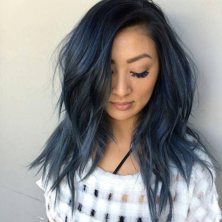 The 25+ Best Midnight Blue Hair Ideas On Pinterest