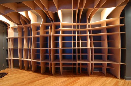 Digitally Fabricated Bookshelf by dbd Studio in main interior design home furnishings  Category