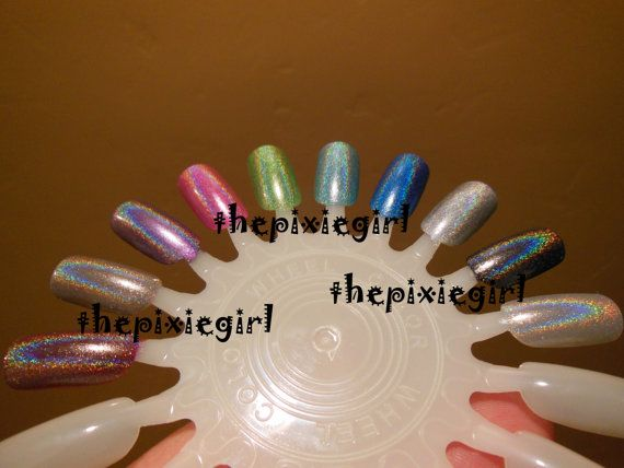 SPECTRAFLAIR HOLOGRAPHIC Top Coat Nail POLISH by thepixiegirl,
