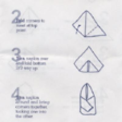 easy serviette folding instructions